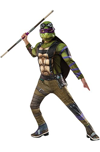 Rubie's Costume Kids Teenage Mutant Ninja Turtles 2 Deluxe Donatello Costume, Medium -