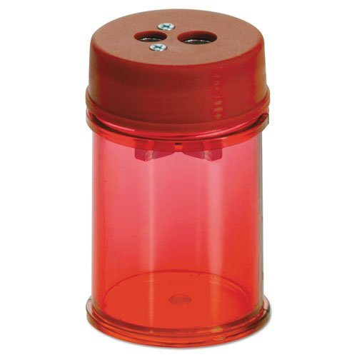 Officemate Pencil/Crayon Sharpener, Twin, Red (Red Sharpener)