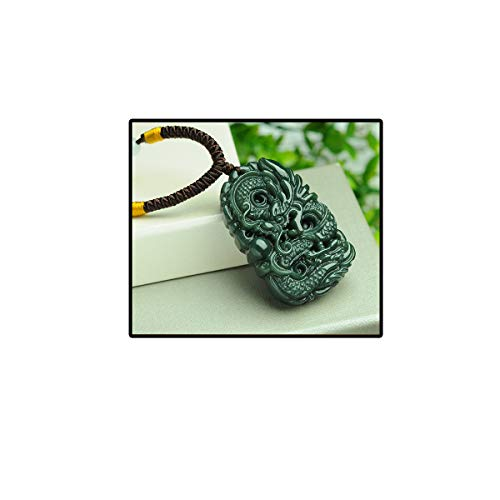 Green Vintage Jade (mapnana Chinese Traditional Crafting Jade Flying Fortune Dragon)