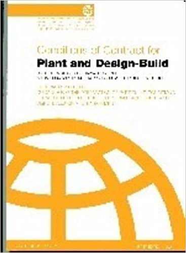 Conditions Of Contract For Plant And Design Build For Electrical And