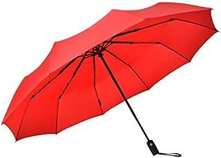 parapluie Parapluie entièrement automatique Men's business parapluie pliant Renfort coupe-vent pour deux personnes 66.5 * 116 * 132cm noir bleu rouge Disponible pour la sélection ( Couleur : Bleu )