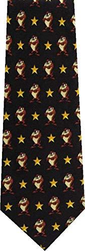 Taz gold star looney tunes new novelty necktie ()