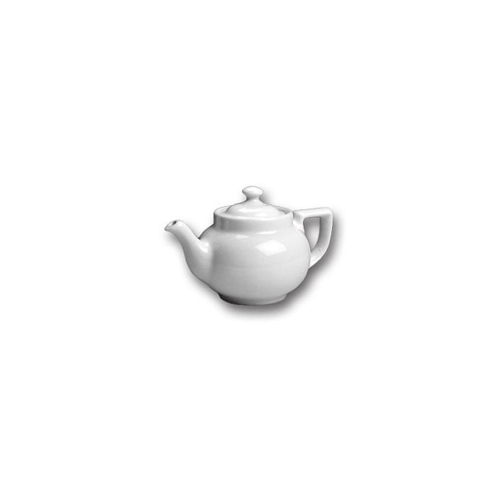 Hall China 21-WH White 10 Oz. Boston Teapot with Knob Cover - 12 / CS