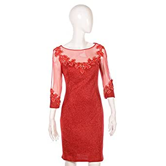 Dekelte Red Mixed Special Occasion Dress For Women