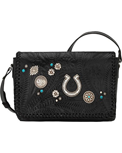 American West Women's Lariat Love Crossbody Bag/Wallet Black One Size by American West