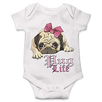 Amazon.com: Pug Life Not Thug Baby Bodysuit Dog Lover Gift