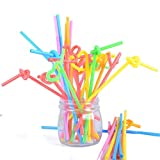 Kikole 100pcs Durable Heat Resistant Disposable Straw Drink Straw Tool & Gadget Sets