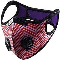 Susenstone - Bandanas de cara con válvula respiratoria reutilizable, lavable, resistente al viento, para exteriores