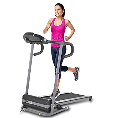Apelila Electric Folding Treadmill Motorized Power Fitness Running Machine with LED Display