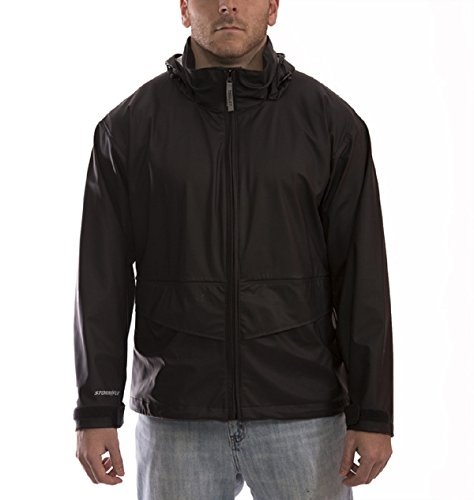 Tingley All Sport Rain Suit, Jacket With Pants, Black Color, Lightweight Waterproof Material, Seams Are 100% waterproof With A RF/Heat Seal, Comes With A Front Zipper And Snaps, 2 Pockets. (Medium)