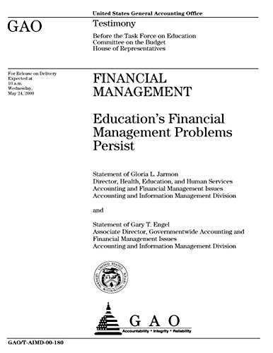 Financial Management: Education's Financial Management Problems Persist