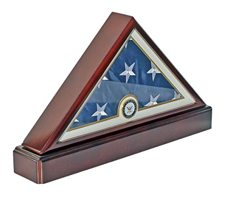 Honorable U.S. Navy FLAG DISPLAY CASE Military Shadow Box for 5'X9.5' Burial/Funeral/Casket Folded, FC69