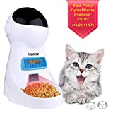 Automatic Cat Feeder Iseebiz 3L Pet Food Dispenser Feeder for Medium and Large Cat Dog——4 Meal, Voice Recorder and Timer Programmable,Portion Control