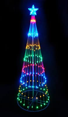 LB International 6' Multi-Color LED Light Show Cone Christmas Tree Lighted Yard Art Decoration