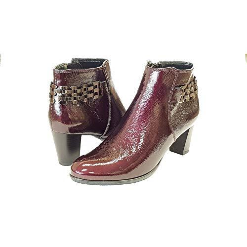 Rosso Delle 74 Ara brunello Donne Stivali Caviglia Toulouse Nero CqAS6wq