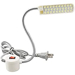 BAILIDA Sewing Machine Light -30 LEDs, Magnetic Mounting Base Working Gooseneck Lamp for Home, 1 Piece