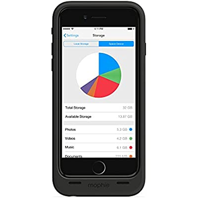 mophie space pack Storage and Battery Case for iPhone 6 6S 32GB
