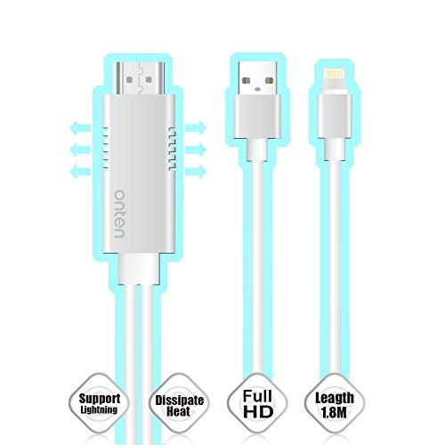 Cheap Cables (Upgrade Version) Onten Lightning Digital AV Cable, Lightning 8 Pin to HDMI..