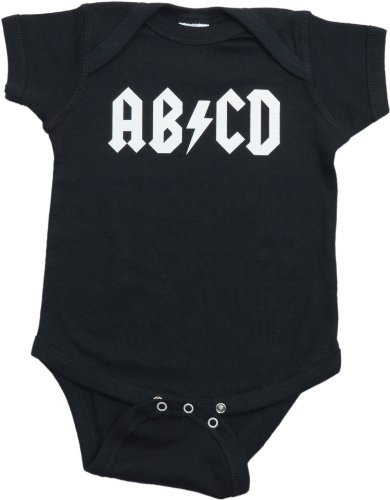 Ann Arbor T-shirt Co. Unisex Baby AB/CD Funny Infant Rock and Roll One Piece-12 Month -