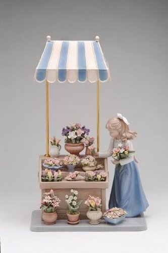 Cosmos 96564 Flower Girl Shoppe Ceramic Figurine, 13-3/8-Inch ()