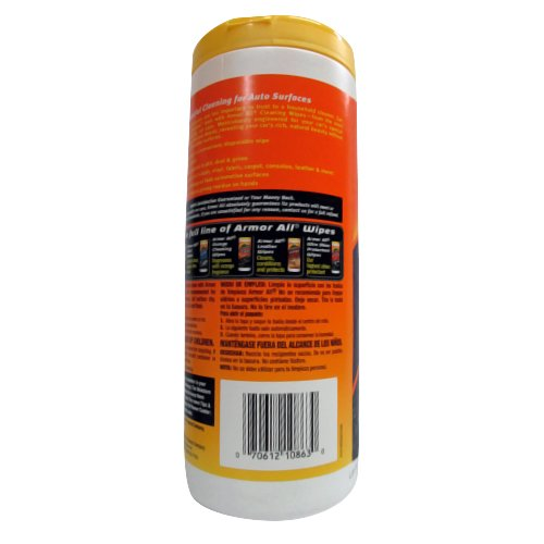 Armor All 10863 Cleaning Wipes 25 Sheets