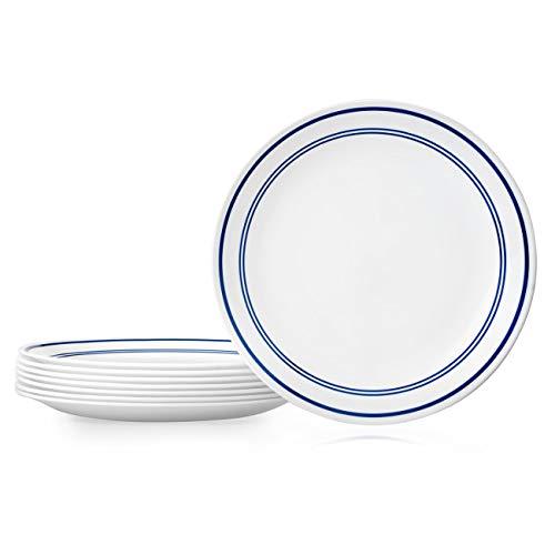 Corelle 1136760 Dinner Plates, 8-Piece, Classic Café Blue