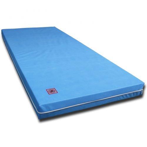 Matratze Rollmatratze RG30 7 ZONEN MATRATZE mit Vlies Bezug Blau Größe 120 x 200 cm