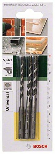 Bosch 2609256919 Multi-Purpose Drill Bit-Set SDS-Quick 5, 6/7mm 3 Pcs
