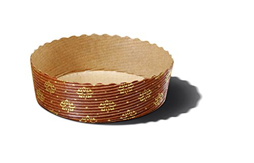Tortina Tart Mold Use It For Your Chocolate Cakes Or Jelly Tarts! Apple Pie, Cherry Pie And Kind Of Pies Color Brown With Gold Floral Design Size 4