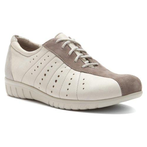 Munro Women's Tori Chalk Kid/Greige Suede/Silver 8.5 N US (Munro Walking Shoes)