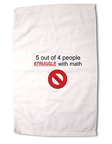 TooLoud 5 Out of 4 People Funny Math Humor Premium Cotton Sport Towel 16''x25''