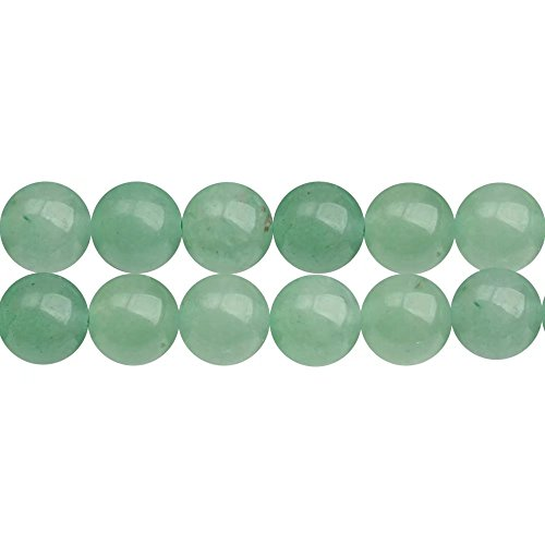 Natural Green Aventurine Stone Round 8mm Loose Beads to Make DIY Jewelry Sold by One Strand 15 Inch APX 46 Pcs