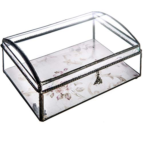 J Devlin Box 704 Clear Curved Glass Keepsake Box Wedding Invitation Display Remove and Replace Artwork