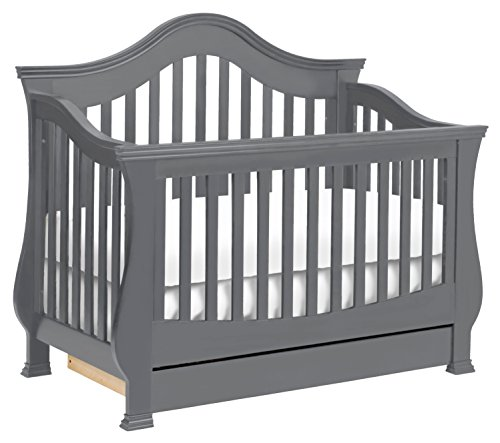 Million Dollar Baby Classic Ashbury 4-in-1 Convertible Crib with Toddler Bed Conversion Kit, Manor Grey by Million Dollar Baby Classic (Image #9)
