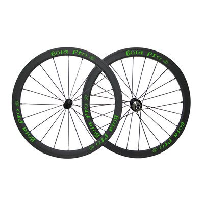 Bola Pro carbon bike wheelset,+/-0.2mm offset,Two Year Warranty,700C 38mm high 25mm wide tubular carbon rim with enduro ceramic bearing hub and Sapim Cx ray 20/24 spoke -  Bola Bicycle Co.,Ltd, RT3
