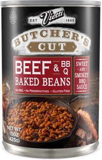 Vietti Butcher's Cut Baked Beans & Beef in Sweet & Smokey BBQ Sauce 15 oz (Pack of 6)