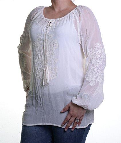 Karen Kane Cream Blouse M