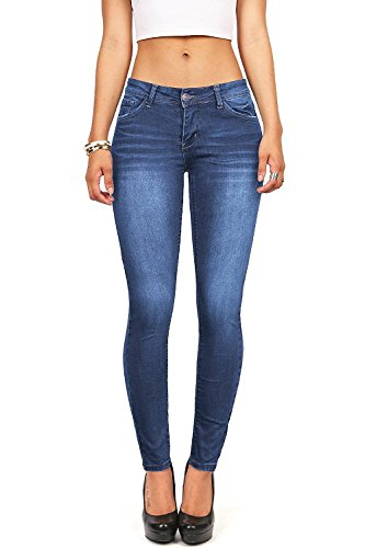 Fit Low Rise Jeans - Wax Women's Juniors Timeless Low Rise Stretchy Skinny Jeans (5, Medium Denim)