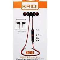 Fone de ouvido bluetooth Original sem fio Com microfone Kaidi Kd901 - Fone sem fio Com Ímã, Headphone aprox 4 horas de musica, Android, Iphone, Xiaomi - Cor VERMELHO