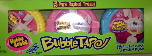 (Hubba Bubba Easter Bunny Bubble Gum Tape 3 pack 18 foot long! Hubbabubba)