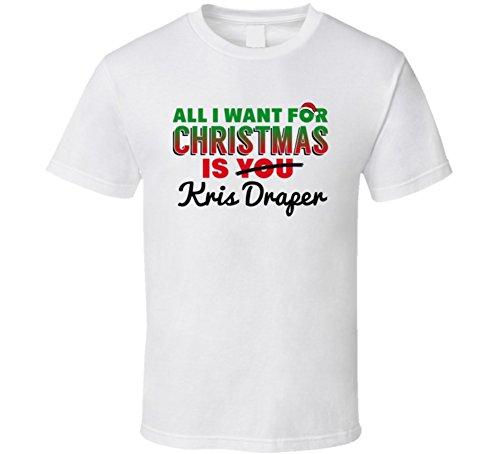 (SHAMBLES TEES All I Want for Christmas is Kris Draper Detroit Hockey Fan T Shirt L)