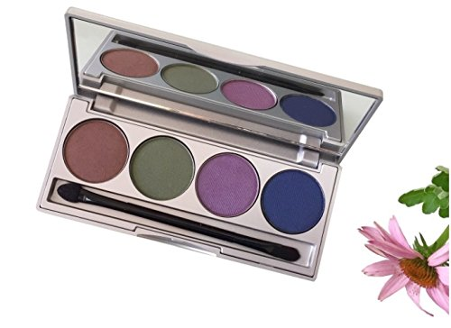 Honeybee Gardens Earth & Ocean Refillable Eye Shadow Palette | Natural Ingredients | Gluten Free, Vegan, Paraben Free
