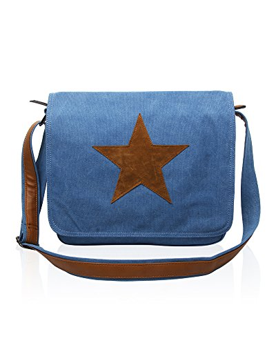 bags FoxLady Star body Cross Rising Blue Canvas gw0xPXq