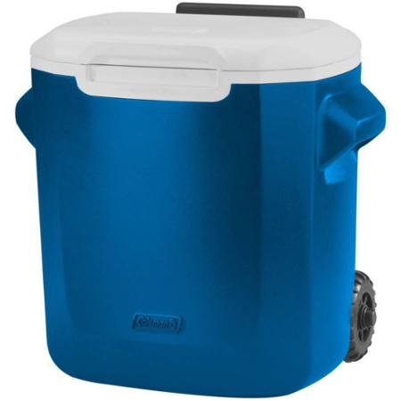 Coleman, 16- Qt Personal Wheeled Cooler, Blue Holds up to 22 Cans