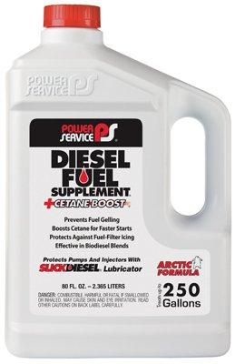 Power Service Products 1080 Diesel Fuel Supplement+Cetane Boost Diesel Fuel Anti-Gel, 80-oz. - Quantity 6 by Power Service