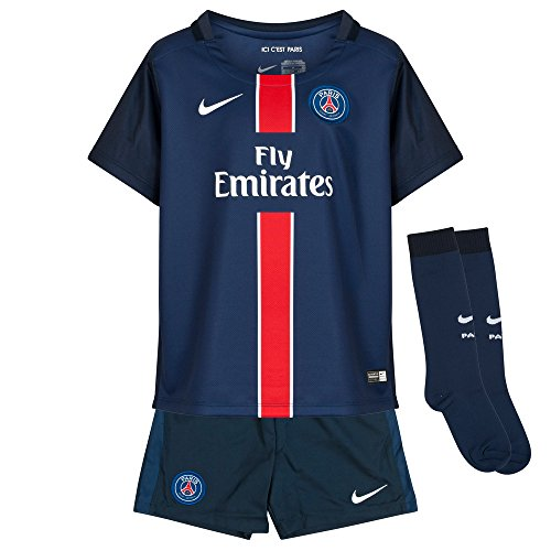 Nike Paris-Saint Germain Home Pre-School Boys' Soccer Kit [MIDNIGHT NAVY/DARK OBSIDIAN/PIMENTO/FOOTBALL WHITE] (M)