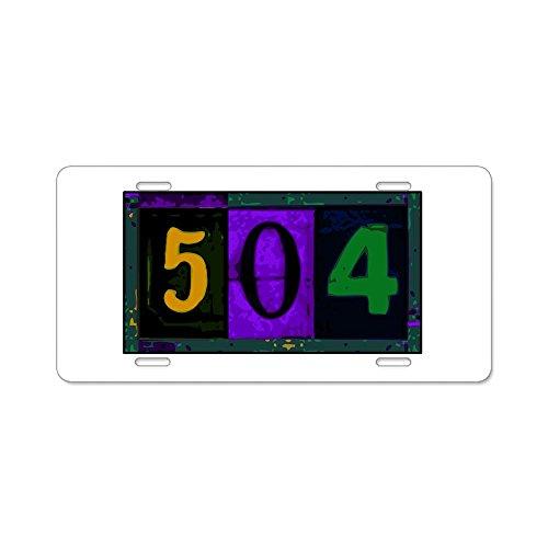 - CafePress - NOLA 504 Aluminum License Plate - Aluminum License Plate, Front License Plate, Vanity Tag