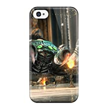 Rugged Skin Case Cover For Iphone 4/4s- Eco-friendly Packaging(zelda On Wii-u) With Free Screen Protector