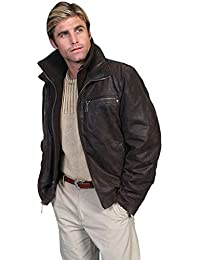 Men's Zip-Out Front and Collar Lambskin Jacket - 400-63