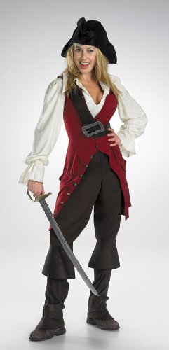 [Costumes For All Occasions DG6674 Elizabeth Pirate Adult Deluxe] (Elizabeth Deluxe Adult Costumes)